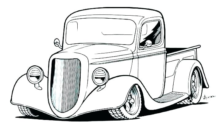 730x416 Classic Cars Coloring Pages