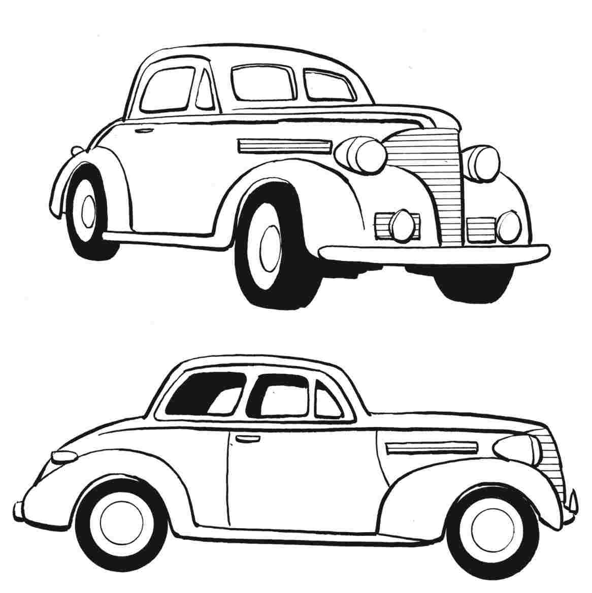 1166x1168 Huge Collection Of 'old Car Drawing' Download More Than Images