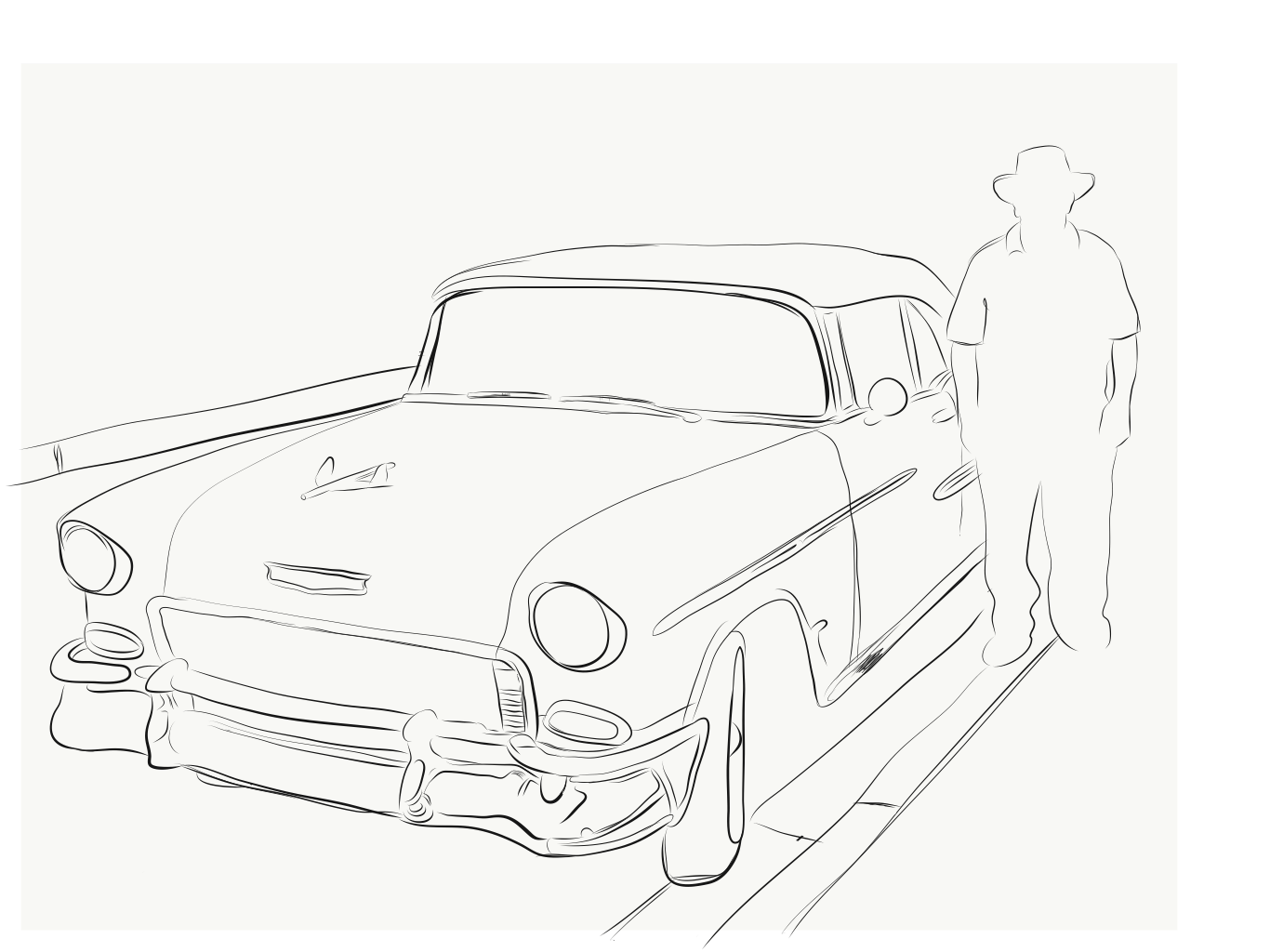 1366x1024 Chano With A Chevy On Behance