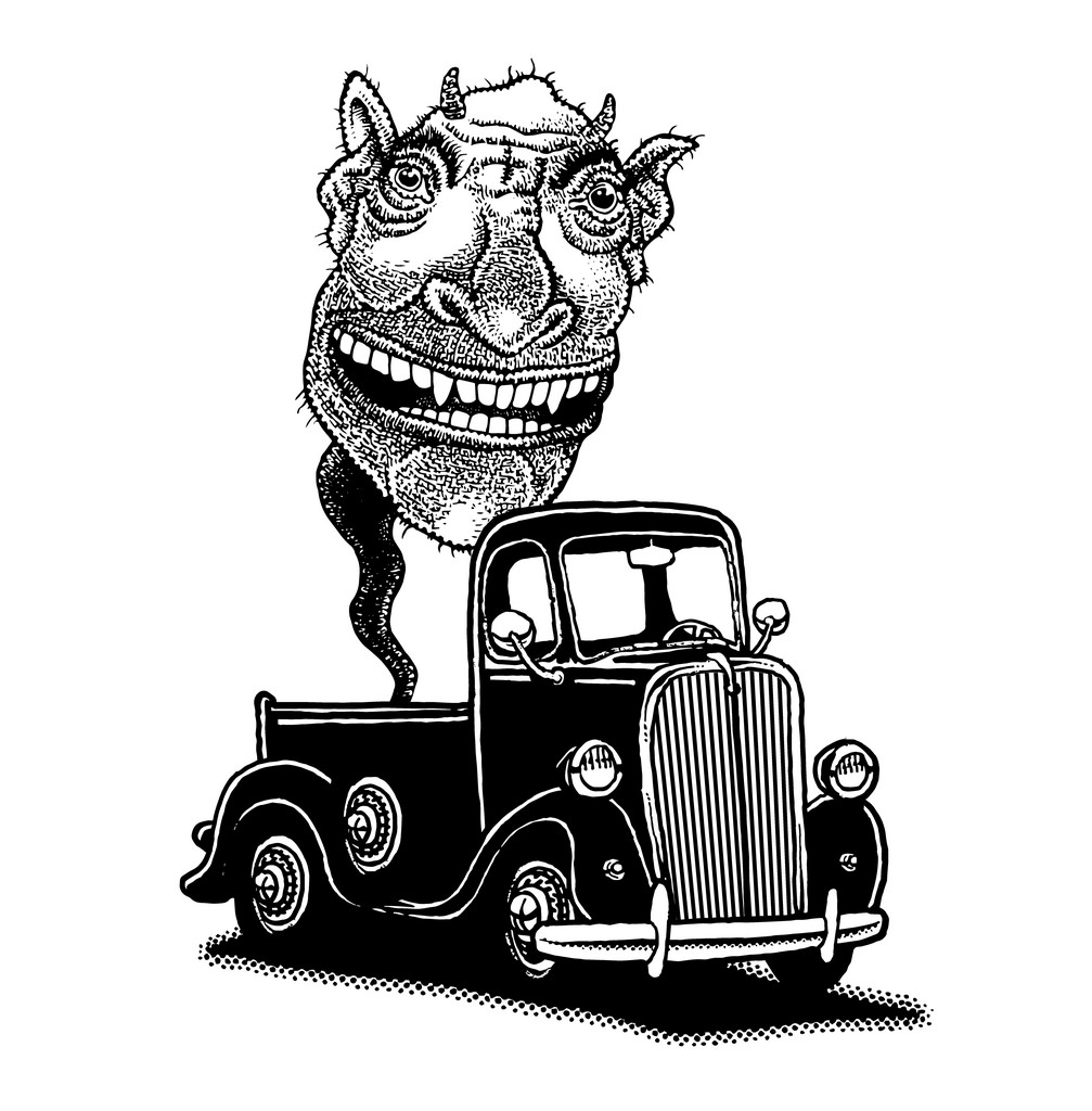 Classic Truck Drawing