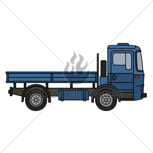 500x500 Classic Blue Truck Gl Stock Images