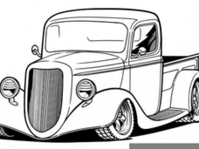 640x480 Classic Truck Cliparts