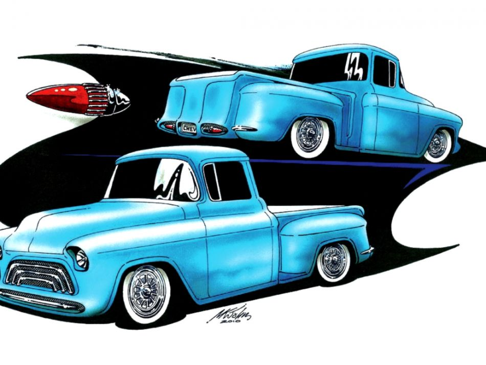 950x713 Classic Truck Drawings Wallpapers In Aja