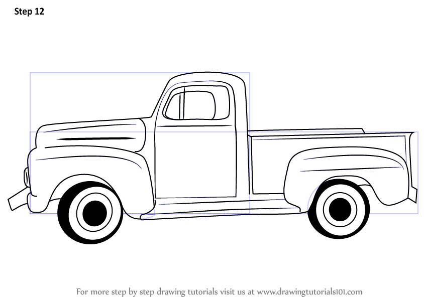 844x598 Learn How To Draw A Vintage Truck