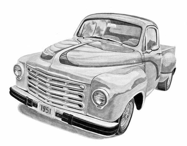 600x471 Studebaker Pickup Truck Poster