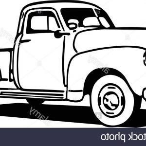 300x300 Photostock Vector Hand Drawing Of A Classic Truck Not A Real Model