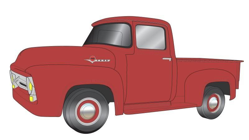 800x449 Old Ford Truck Drawing