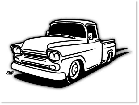 450x340 Chevy Truck Drawings Sketch Coloring