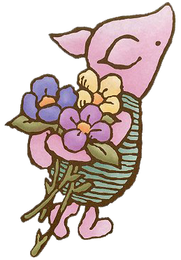 259x371 Classic Piglet Wflowers Tattoos Piglet Tattoo, Pooh Bear