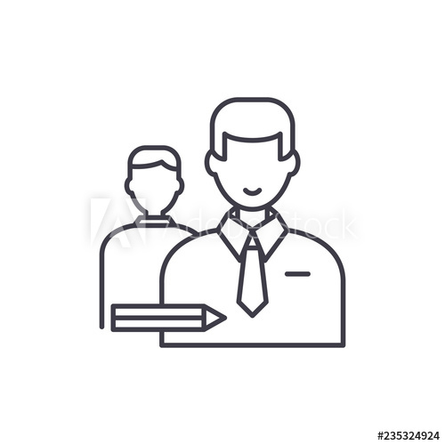 500x500 classroom line icon concept classroom vector linear illustration