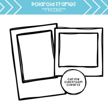 350x350 polaroid frames clipart freebie