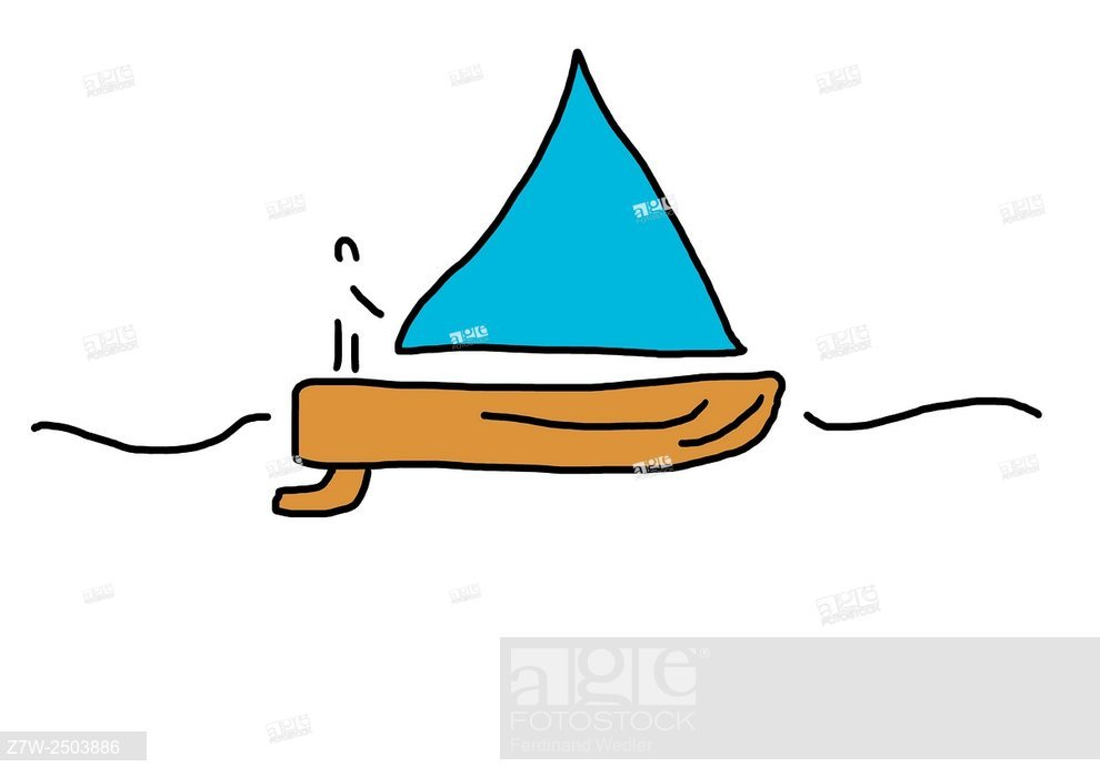 990x700 sailing boat with captain on sailing ship drawing illustrations