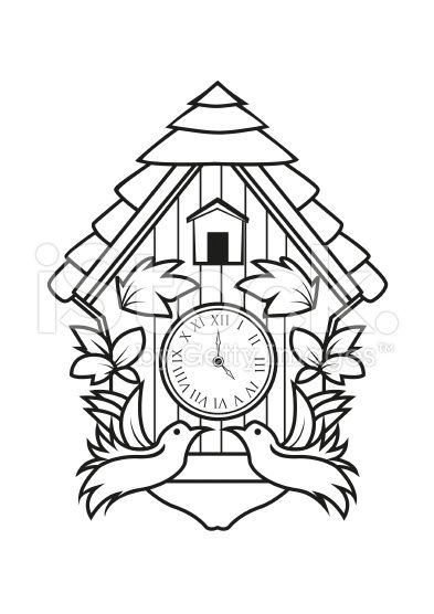 393x556 Huge Collection Of 'cuckoo Clock Drawing' Download More Than