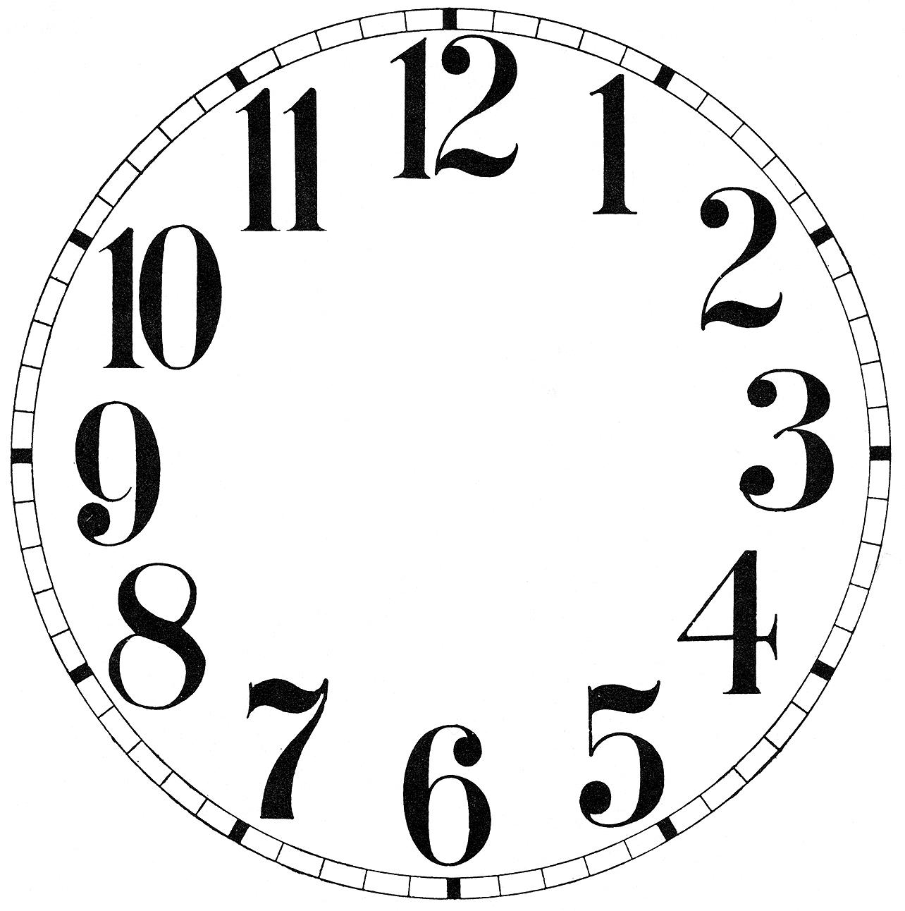 Clock Face Drawing