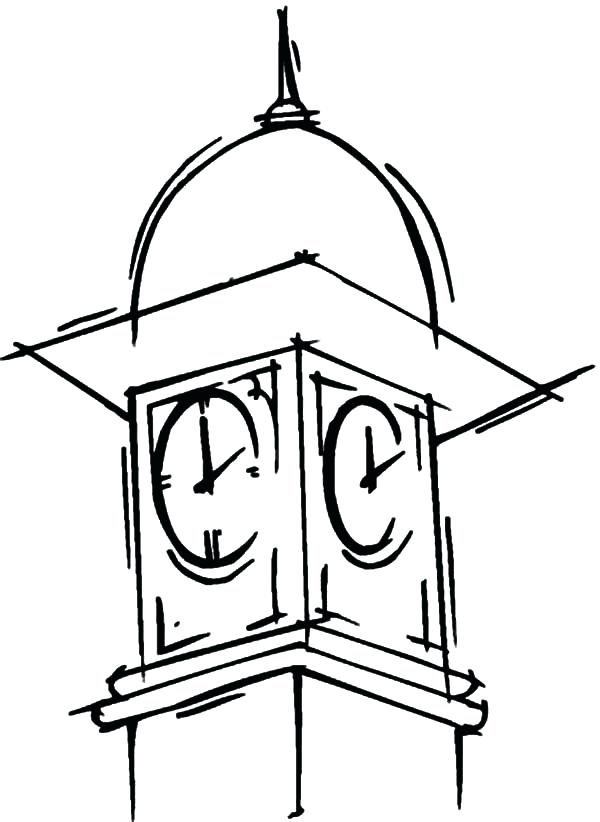 600x822 how to draw a clock big clock tower coloring pages draw clock face