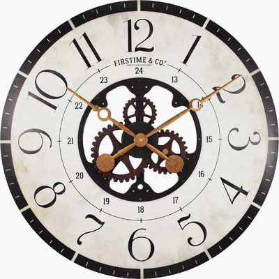 400x400 oversized deseret gears wood wall clock reviews joss main