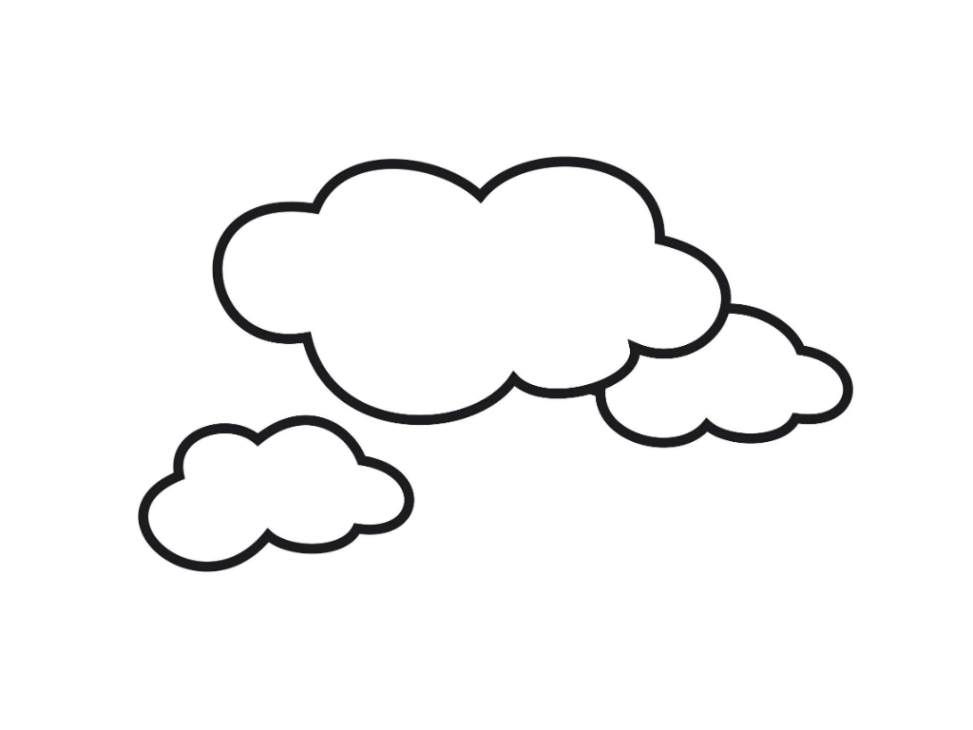973x730 clouds coloring page, coloring pages of clouds clipart best