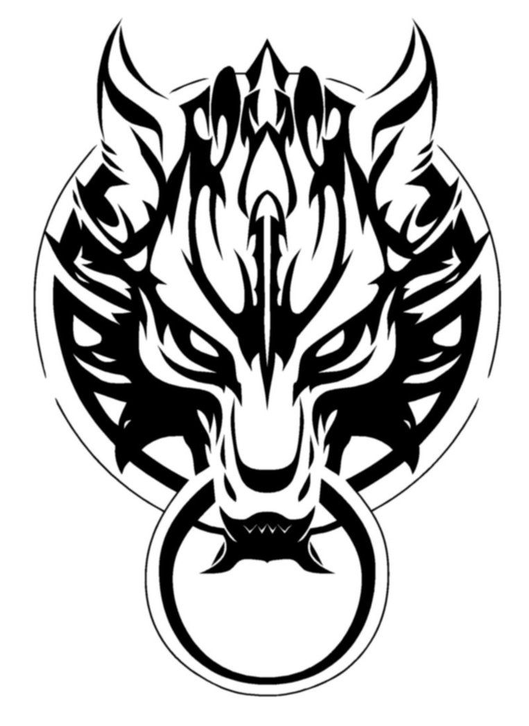 763x1048 Image Result For Cloud Logo Ff Vinyl Final Fantasy Tattoo