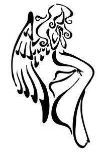 211x300 Simple Angel Tattoo
