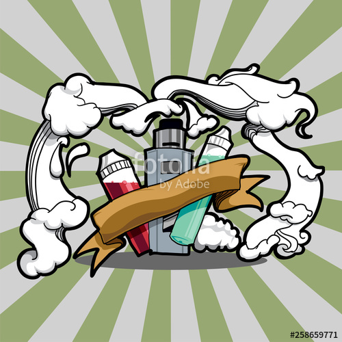 500x500 Vaporizer Drawing Cloud With Rays Light It's Show E Luid Bottles
