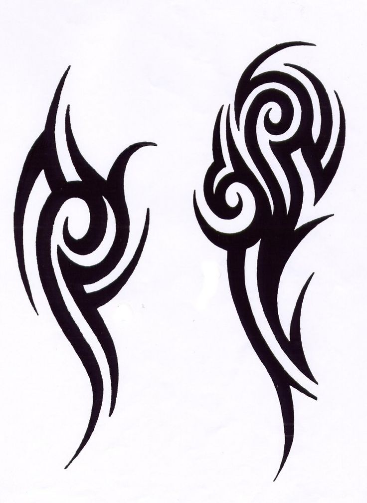 736x1008 Man Drawing Tribal Tattoo For Free Download