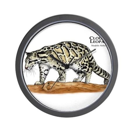 460x460 Clouded Leopard Wall Clocks