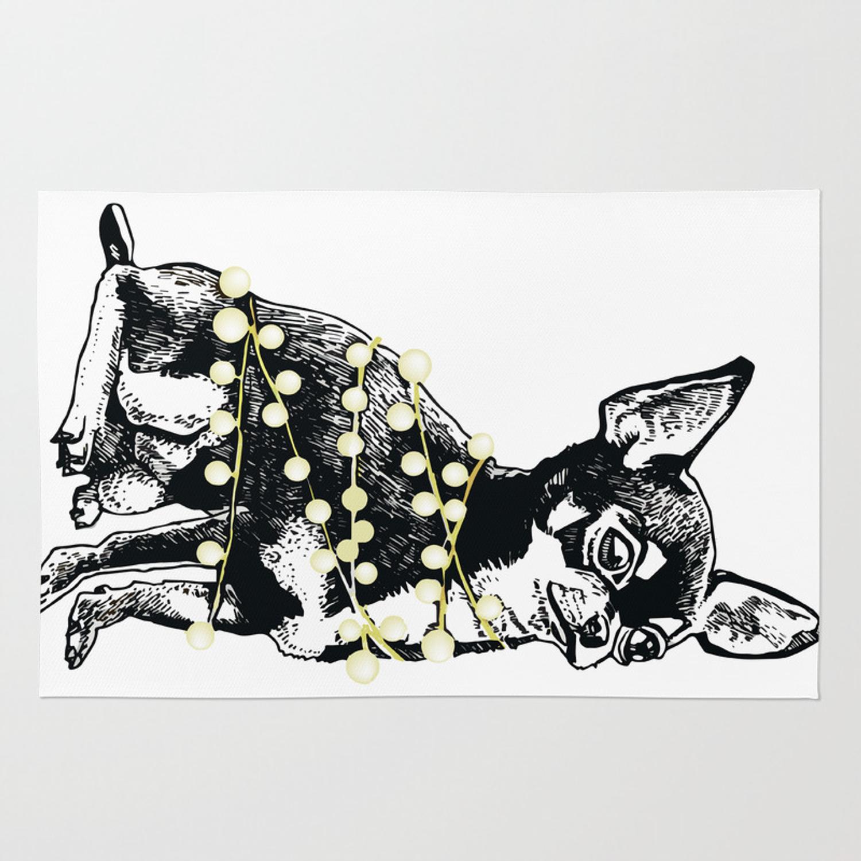1500x1500 Winter Holiday Chihuahua Dog Rug