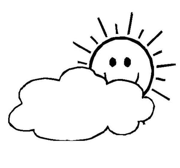 Clouds Drawing For Kids
