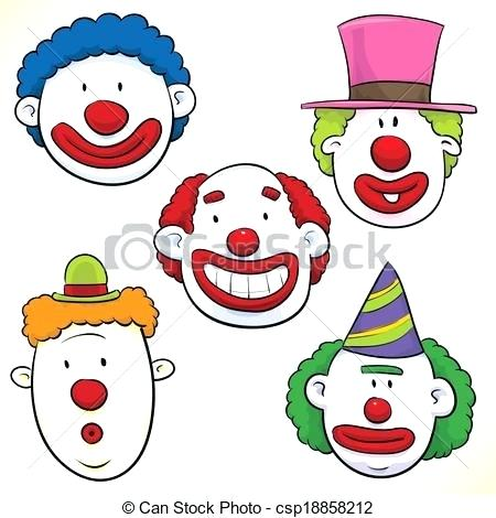 450x470 clown faces drawings clown face wink creepy clown face drawing