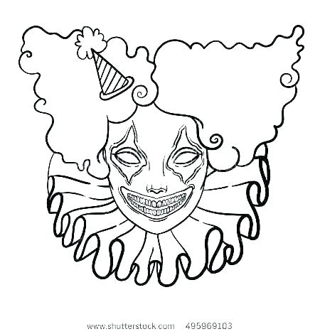 450x470 clown picture to color clown coloring pages circus scary clown
