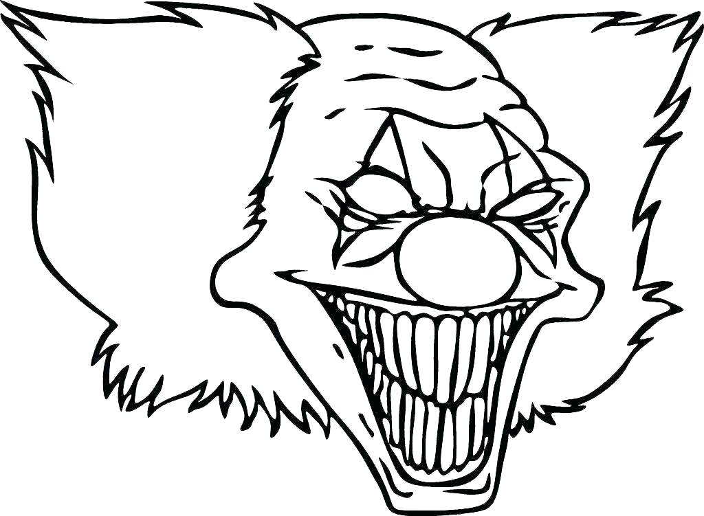 1024x751 clown picture to color girl clown coloring pages circus clown face