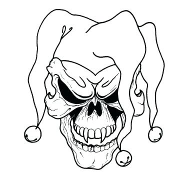 380x380 evil clown drawings the scary clown evil clown face drawings