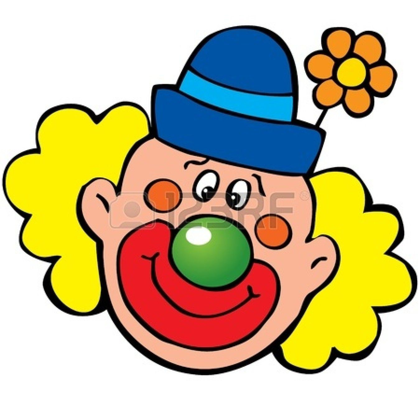 1350x1350 clown face clip art clown clip art happy clown art