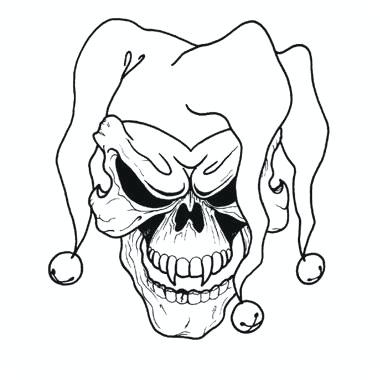 380x380 evil clown drawing evil clown drawings step