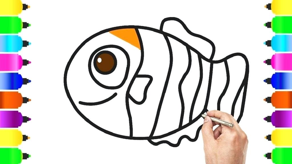 Clownfish Drawing Free Download Best Clownfish Drawing On