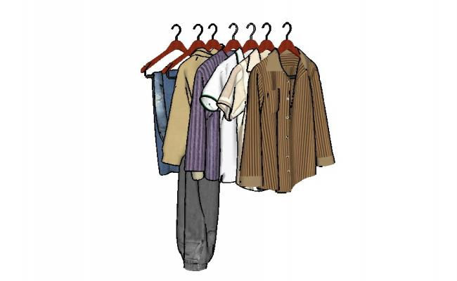 650x400 dynamic multiple clothes and coat blocks cad drawing details