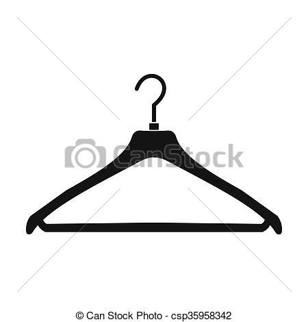 450x470 coat hanger icon coat hanger black simple icon isolated on white