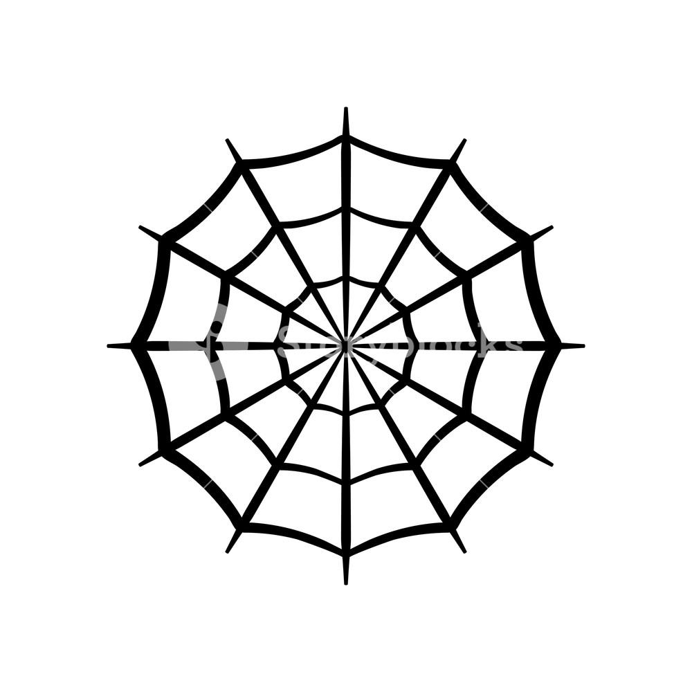 1000x1000 spider web icon circle cobweb vector silhouette spiderweb clip
