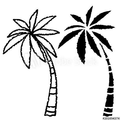 500x500 Coconut Palm Trees Icons Set