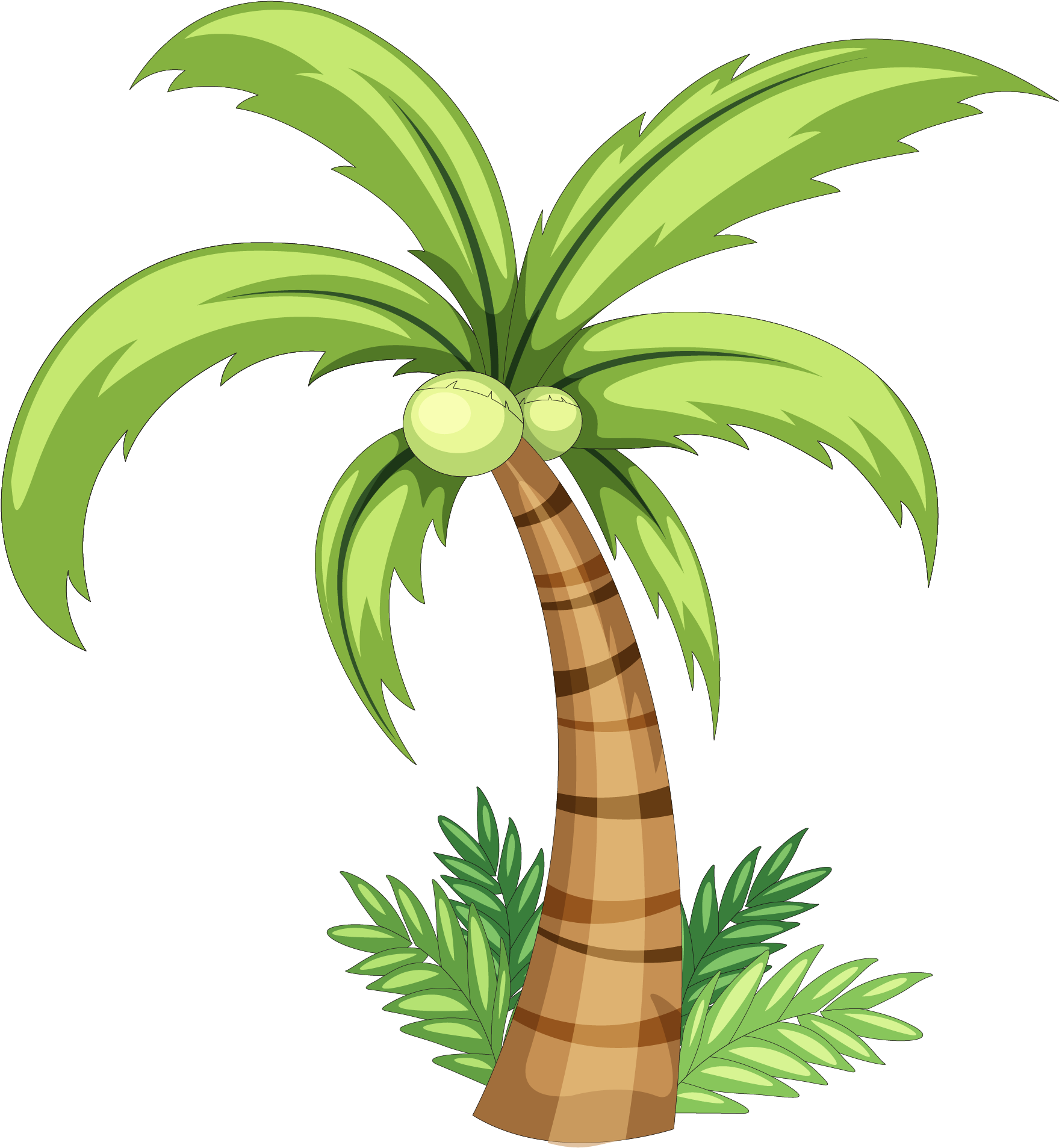 1759x1907 Download Palm Tree Watercolor Png Image Black And White Library