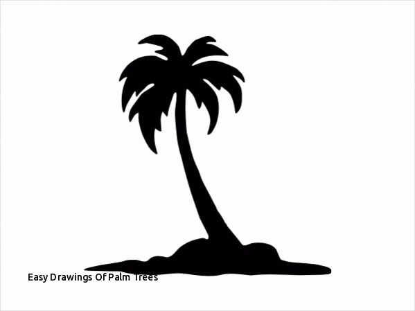 599x449 Huge Collection Of 'palm Tree Easy Drawing' Download More Than