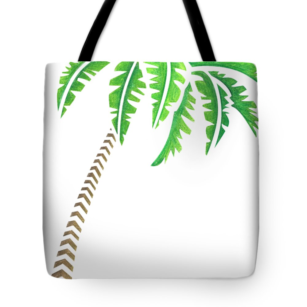 1000x1000 Tribal Coconut Palm Tree Tote Bag For Sale