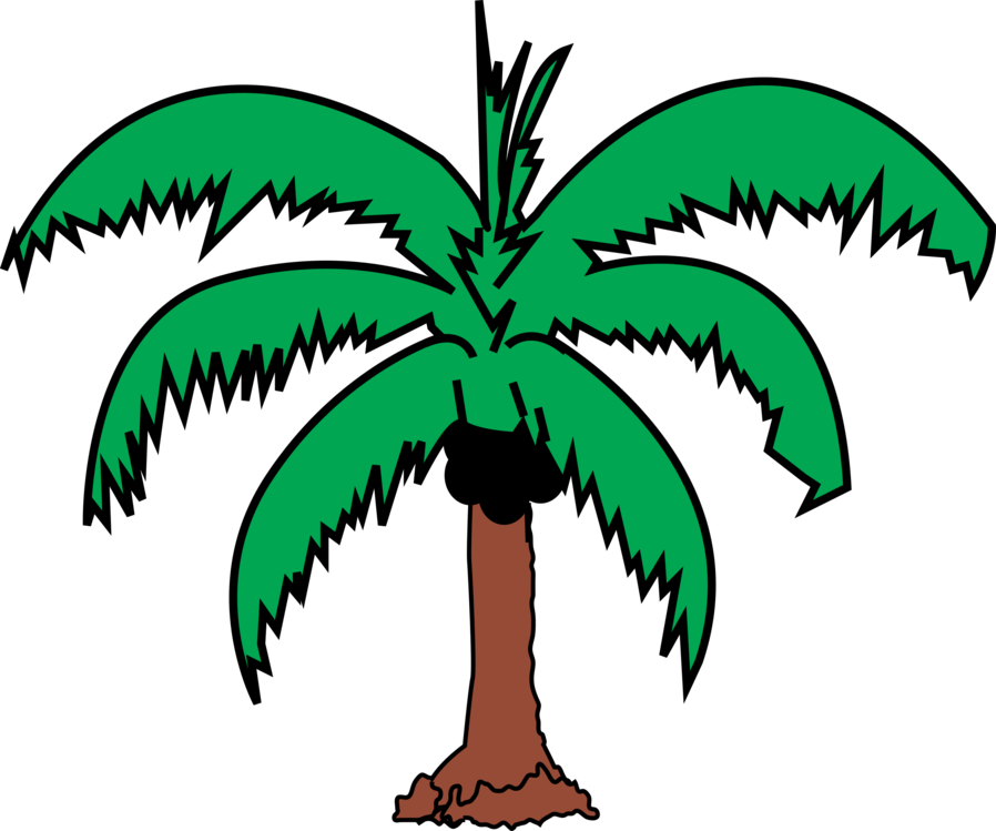 898x749 Coconut Palm Trees Drawing Silhouette Cc0