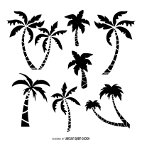 200x200 Coconut Palm Tree Free Vector Graphic Art Free Download