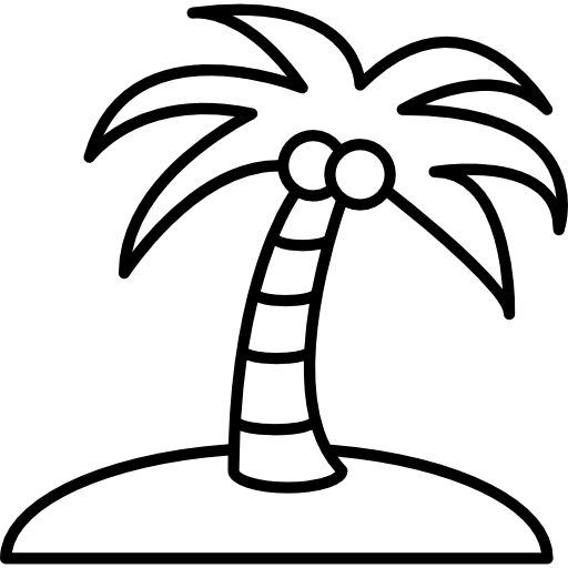 512x512 Collection Of Free Island Drawing Coconut Tree Download On Ui Ex