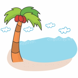 320x320 Hd Drawing Of Beach With Coconut Trees