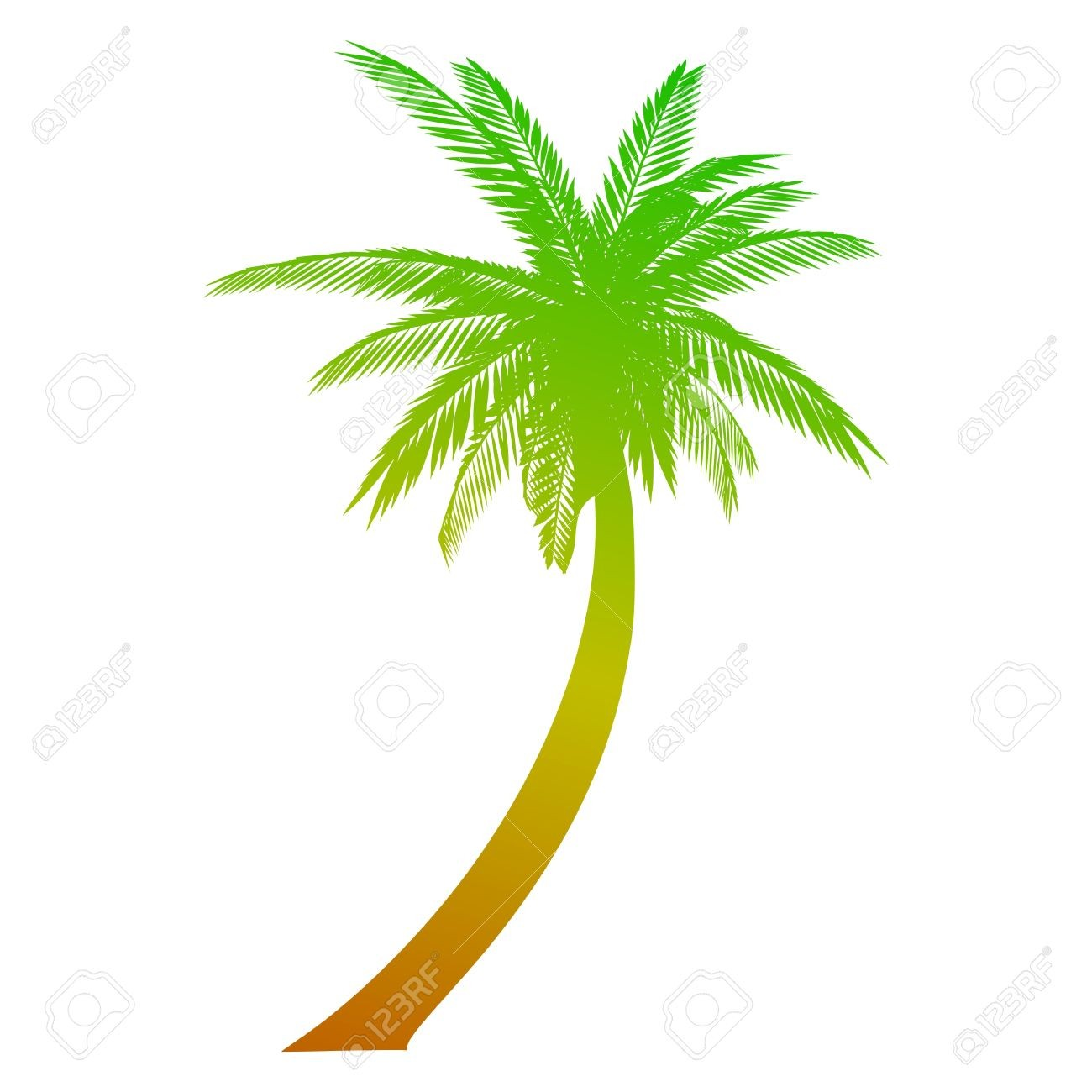 1300x1300 coconut tree sunset clipart avec drawing two coconut trees
