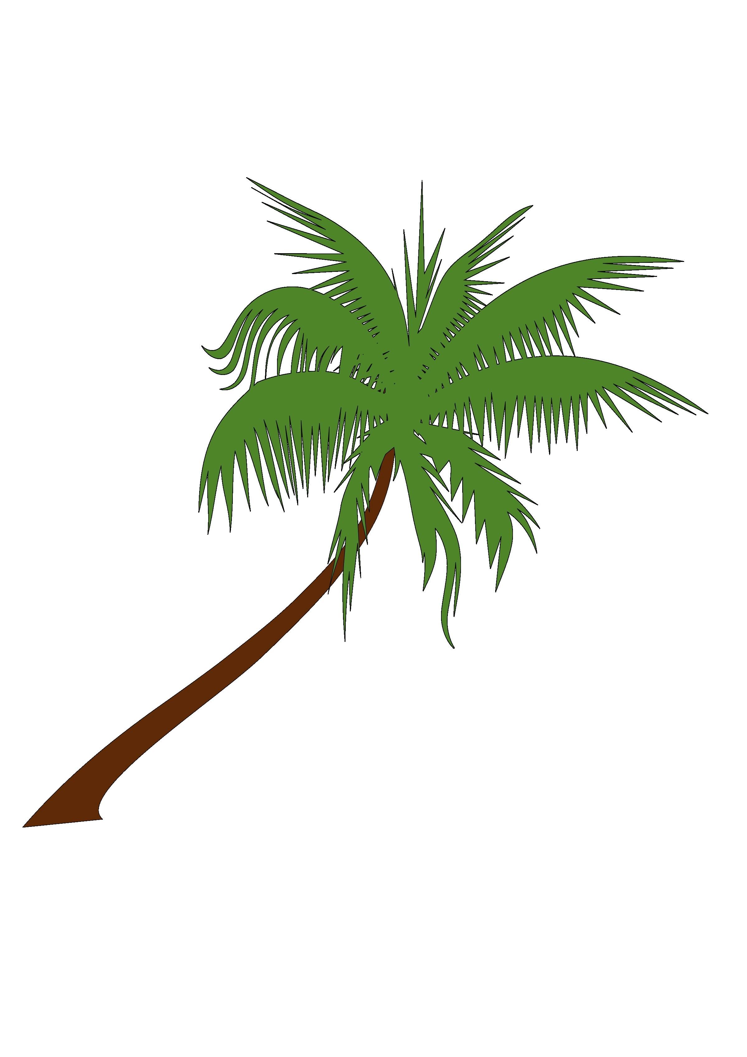 2400x3394 Palm Tree Cartoon Drawing Cartoon Coconut Tree Stock Vector Image