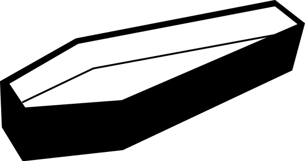 600x318 open coffin free vector in open office drawing