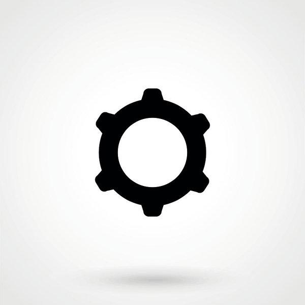 600x600 vector cog settings icon symbol art print